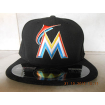 Gorra Miami Marlins 7 1/4 New Era Authentic Collection Home