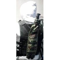 Porta Machete Para Chaleco Tactico Verde Militar Camo Negro