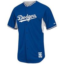 Jersey Majestic Oficial De Practica 2015 L.a. Dodgers