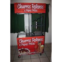 Carrito De Churros Rellenos Y Papas Fritas. Nuevo $12,800
