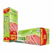 Bolsa Para Congelar Mediana 17.8 X 20.3 Cm 20 Pzas 82002 Sto