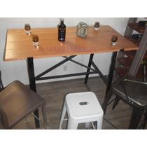Mesa Alta Para Bares,restaurantes Y Cafeterias De Madera