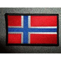Bandera Bordada De Noruega Parche Escudo Bordado