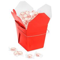 Paquete De 50 Cajas Rojas Para Comida China Con Asa 64oz