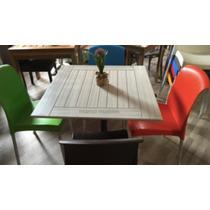 Mesas En Patina Blanca Restaurantes, Cafeterías Y Bares