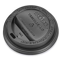 1000 Tapas Negras Para Vaso Termico 10 Oz Cafe O Cafeterias