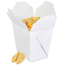 Paquete De 450 Cajas Blancas Para Comida China Sin Asa 26oz