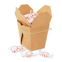 Paquete De 100 Cajas Kraft Para Comida China Con Asa 16oz
