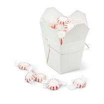 Paquete De 100 Cajas Blancas Para Comida China Con Asa 8oz