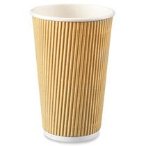 500 Vasos Termicos Aislantes Ondulado Cafe Cafeterias 16 Oz