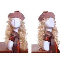 Maniqui Cabeza Femenina Blanca Para Pelucas Sombreros Pm0