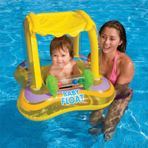 Flotador Bebe Intex Baby Float Amarillo Con Techo