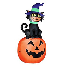 Inflable Halloween Gato Negro Calabaza Nuevo Fantasma Bruja