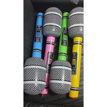 Microfono Inflable Gigante 55cm Fiesta Evento Envios Gratis