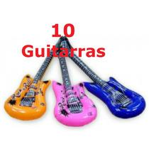 10 Guitarras Inflables Globo Fiesta Batucada Evento
