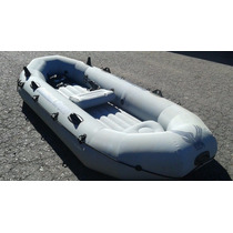 Lancha Inflable Bote Seahawk Sport 400 2 Remos De Aluminio
