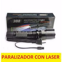 Chicharra Paralizador Con Lampara Led Y Laser Stun Gun Taser