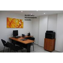 Oficinas Amuebladas Deluxe En Reforma, Iva Y Mant. Incluido
