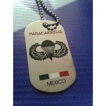 Placa Militar Paracaidista Fuerza Aerea Con Cadena Nueva