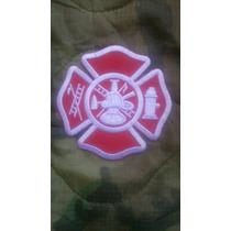 Sector Escudo Bombero Paramedico Bordado Importado
