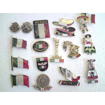 Coleccion De Pins Mexico, Bandera, Independencia, Aguila