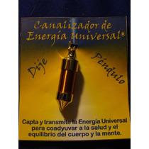 Pendulo Canalizador Energia Universal En Cobre Y Oro Dije