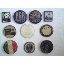 Coleccion De Pins Pf, Pgr, Afi