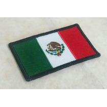 Bandera De México Bordada De 7x4 Cms