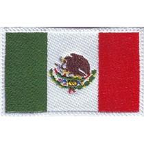 Banderas Bordadas Mexico Y Varios Paises Parches Bordados