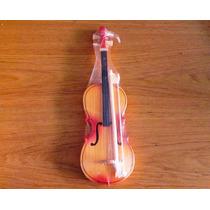 Violin De Juguete Tipico Artesanal, Madera Natural
