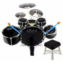 Bateria Musical Infantil 8 Piezas Band Jazz Drum - Negro