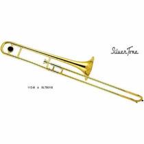 Trombon De Vara Sib Laqueado Sl-700l Silvertone