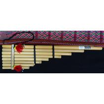 Zampoña Zanca (grande). Instrumento Musical De Viento