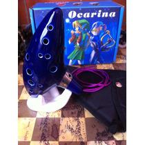 Ocarina The Legend Of Zelda Con Instructivo, Base Y Estuche
