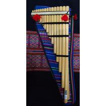Zampoña Sobrezanca. Instrumento Musical De Viento