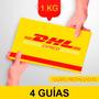 4 Guia Prepagada Dia Siguiente Dhl 1kg + Recoleccion Gratis