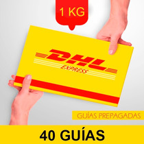 40 Guia Prepagada Dia Siguiente Dhl 1kg +recoleccion Gratis