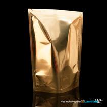 Bolsa Para Café Sin Zipper Sup Cap.454g Dorado, $ X 100 Pz
