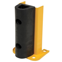 Protector Parachoques Plataforma Estante Acero Amarillo Piso