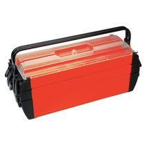 Caja Portátil De Herramientas Rojo Plástico, Acero 23-1/2