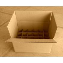 50 Cajas De Cartón Corrugado Kraft 16 X 12 X 8cm
