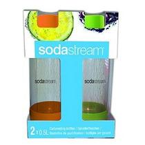 Sodastream 1/2 Litros Carbonatado Botella Naranja / Verde 2-