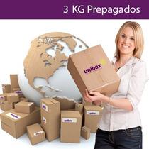 3 Kg Prepagados Unibox, Compra En Usa Y Recibe En Tu Casa.