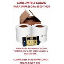 Kit Para Impresora Kodak 6800, 6850 Y 605. Promocion!!!