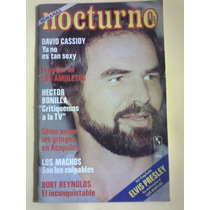Revista Nocturno Burt Reynolds Elvis Presley 1977