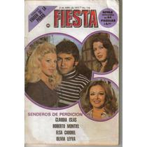 Fotonovela Fiesta: Claudia Islas,roberto Montiel,elsa C.