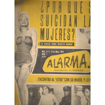 Muerte Marilyn Monroe Revista Alarma # 3 Mayo 1963