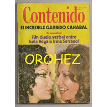 Revista Contenido Irma Serrano Isela Vega 1977