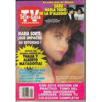 Maria Sorte .en: Revista Tele-guia $ 70.00 (año-1989)