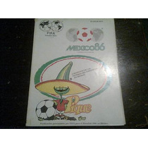 Guia Mundialista De Futbol Mexico 86 Excelente Estado